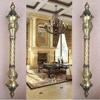 450mm Vintage Big Gate Handle Red Bronze Glass Door Handle Antique Brass Wooden Door Pull 550mm
