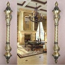 450mm vintage big gate handle Red bronze glass door handle antique brass wooden door pull 550mm  Europe style door handles Retro