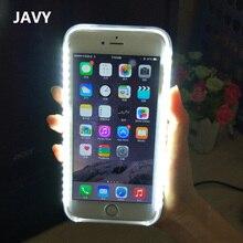 Роскошные LED Вспышка Света Селфи ТПУ PC Чехол Для iPhone 7 Случае SE 5 5 Г 5S Светящиеся Fundas Для iPhone 6 6 s Плюс 7 Плюс Coque