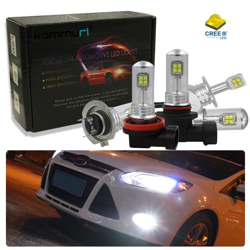 h1 h3 h7 h8 h11 h16 psx24w h27 led fog light drl headlight for ford focus 2 3 mk2 st mondeo mk4 mk3 fiesta ranger kuga 2017 smax
