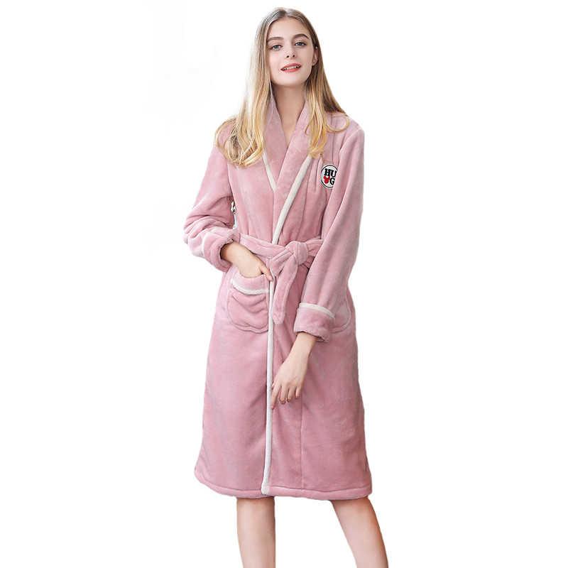 Sexy Women Long Robe Gown Solid Soft Nightgown Nightwear Winter Kimono  Bathrobe Sleepwear Wedding Bride Bridesmaid 6cd39b056