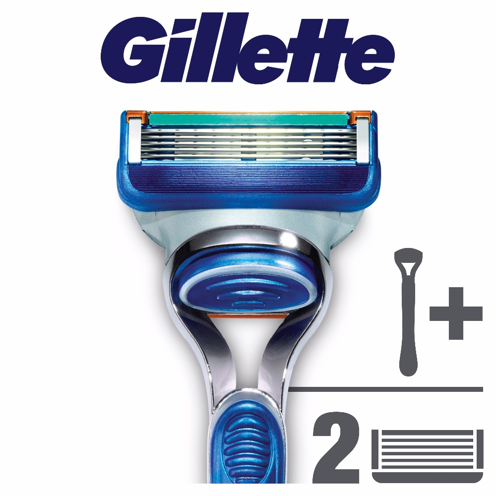 Razor Gillette Fusion Shaver Razors Machine for shaving + 2 Razor Blades for Shaving Machine kemei lady shaver razor epilator electric hair removal shaving machine for facial body armpit underarm leg depilador depilation