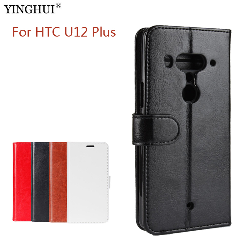 Case For HTC U12 Plus Luxury Wallet PU Leather Case Stand Flip Card Hold Phone Cover Bags For HTC U12 Plus