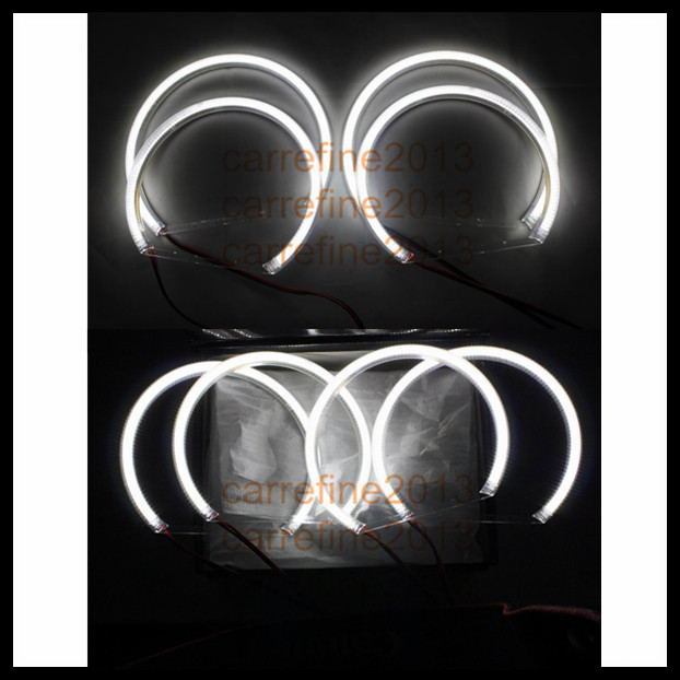 1set 120 SMD led halo rings angel eyes kit for BMW E46 projector e36 e39 e38 headlight led angel eyes ring cotton smd led angel eyes rings for bmw e38 e36 e39 e46 smd led halo rings kit for e46 with projector 4 131mm led smd angel eyes