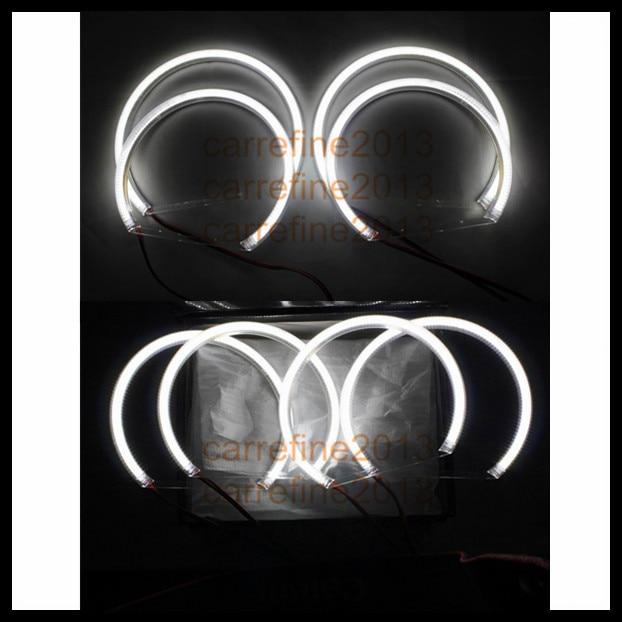 1set 120 SMD led halo rings angel eyes kit for BMW E46 projector e36 e39 e38 headlight led angel eyes ring car cob led angel eyes for bmw e46 cob led drl headlight halo rings led cob angel eyes for bmw e38 e36 e39 e46 projector 7000k