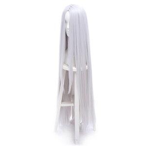 """Image 2 - L דוא""""ל פאה Kaguya Ootutuki קוספליי פאות נארוטו קוספליי 120cm ארוך כסף ישר שיער פאה עמיד בחום סינטטי שיער Peruca"""
