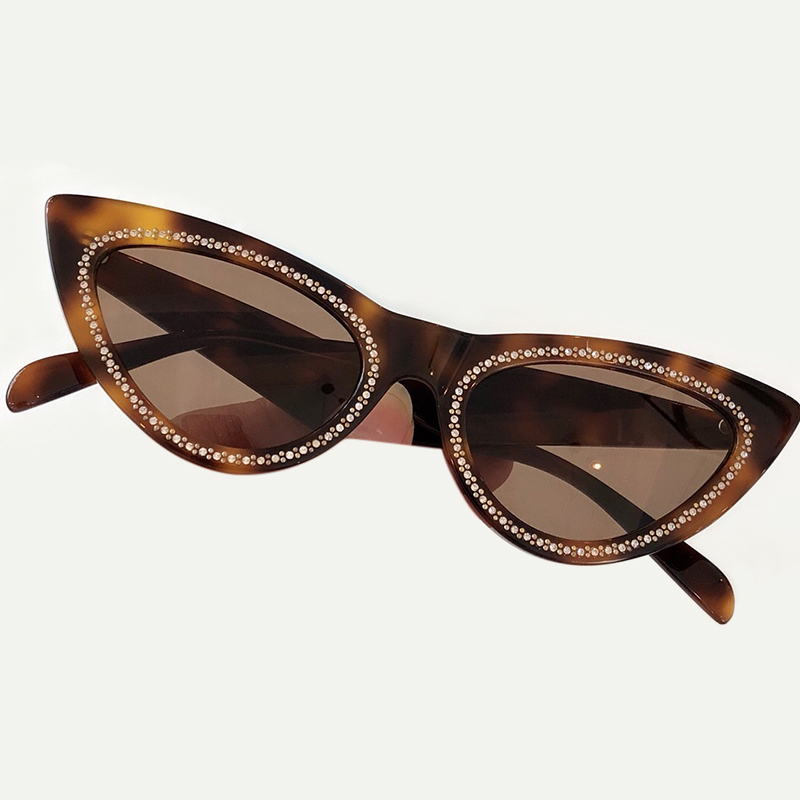 Acetate Frame Sunglasses Women Brand Designer UV400 Protection Lens Eyewear Female Sun Glasses Gradient Lens with