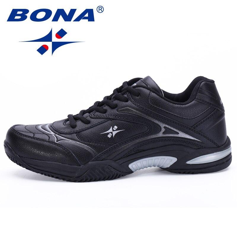 BONA Nouveau Style Classique Hommes Chaussures De Tennis Respirant Stabilité Sneakers En Plein Air Chaussures de Sport Résistant Lumière Rapide Livraison Gratuite