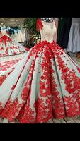 Темный зеленое, с длинным рукавом свадебные платья для женщин кружево бисером 3D цветы корсет индивидуальный заказ платья на свадьбы и вечер
