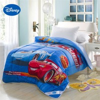Lightning McQueen Cars Printed Comforter Disney Cartoon Bedding Cotton Fabric Cover Boys Kids Quilt Single Twin