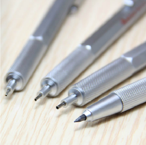 RedCircle metal Mechanical Pencil 0.5mm material Black With 3 sets of 11cm lead