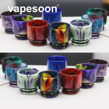 10pcs colorful  810 Resin Drip Tip Wide Bore Mouthpiece For TFV8 TFV12 TFV8 BIG BABY X BABY rta Atomizer tank beautiful pattern