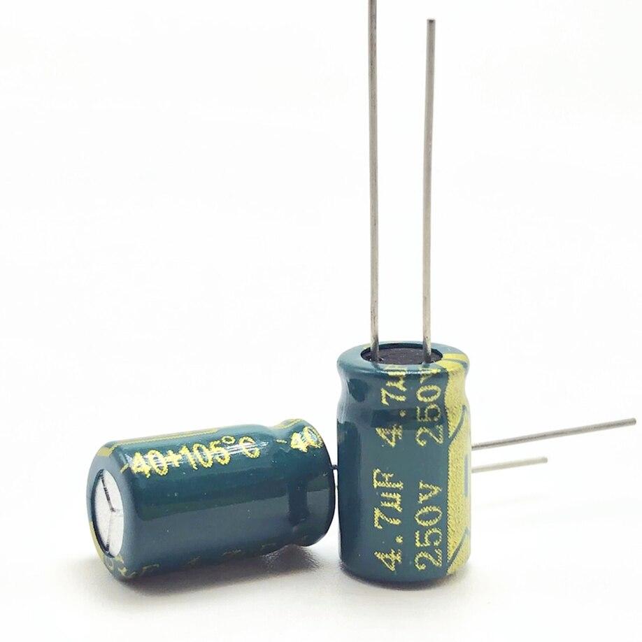30pcs/lot 250v 4.7uf  8*12 20% RADIAL Aluminum Electrolytic Capacitor 4700NF