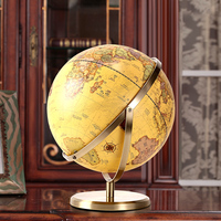 Leaning Educational Geography Teaching Tool Home Office Decorations Crafts Earth Globe,map of The World In English Globe