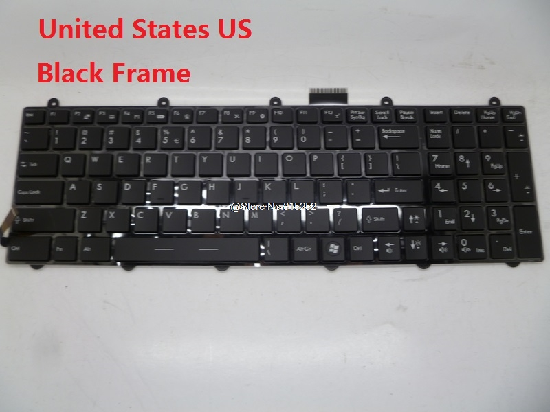 Laptop Keyboard For MSI GE70 2PC-013US English 2PC-017NE 2PC-078XNE 2PC-270NE Nordic 2PC-067CZ 2PC-074XCZ Czech Republic laptop keyboard for sony svs13a1v9e svs13a1w9e svs13a1w9s svs13a1x8r svs13a1x9e black without frame nordic ne se