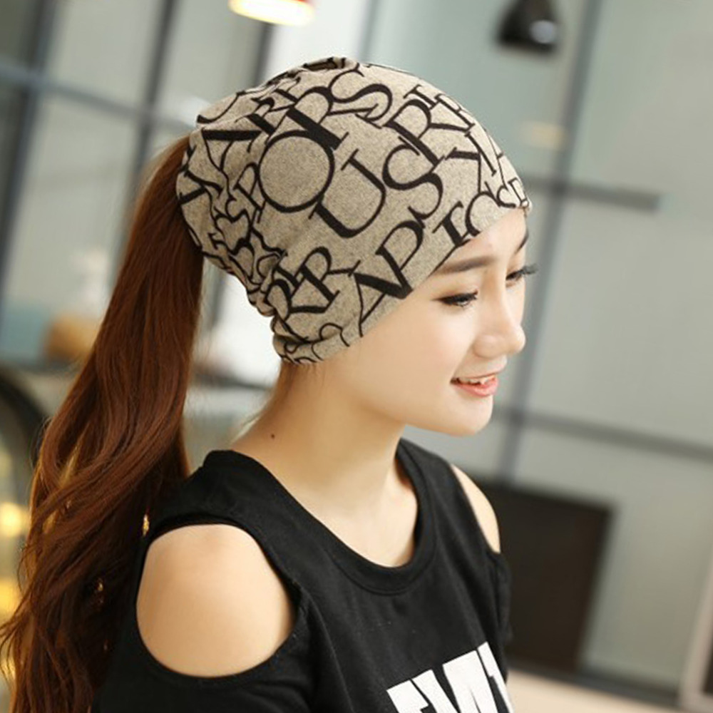 Fashion Winter Fall Women's Hat Letter Prints 2 Use Cap Knitted Wool Scarf Beanies Women Hip-Hop Skullies Warm Girls Gorros F2 winter hats for women thick beanies gorros de lana mujer knitted wool skullies warm snapback hip hop cap bonnets en laine homme