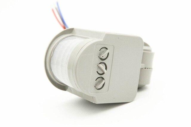 Yeni Hareket sensörlü ışık Anahtarı Açık AC 220 V Otomatik Kızılötesi PIR Hareket Sensörü Anahtarı led ışık