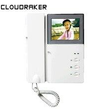 """CLOUDRAKER 4,"""" ЖК-видео домофон дверной звонок видео дверной телефон система двухсторонний аудио с трубкой"""