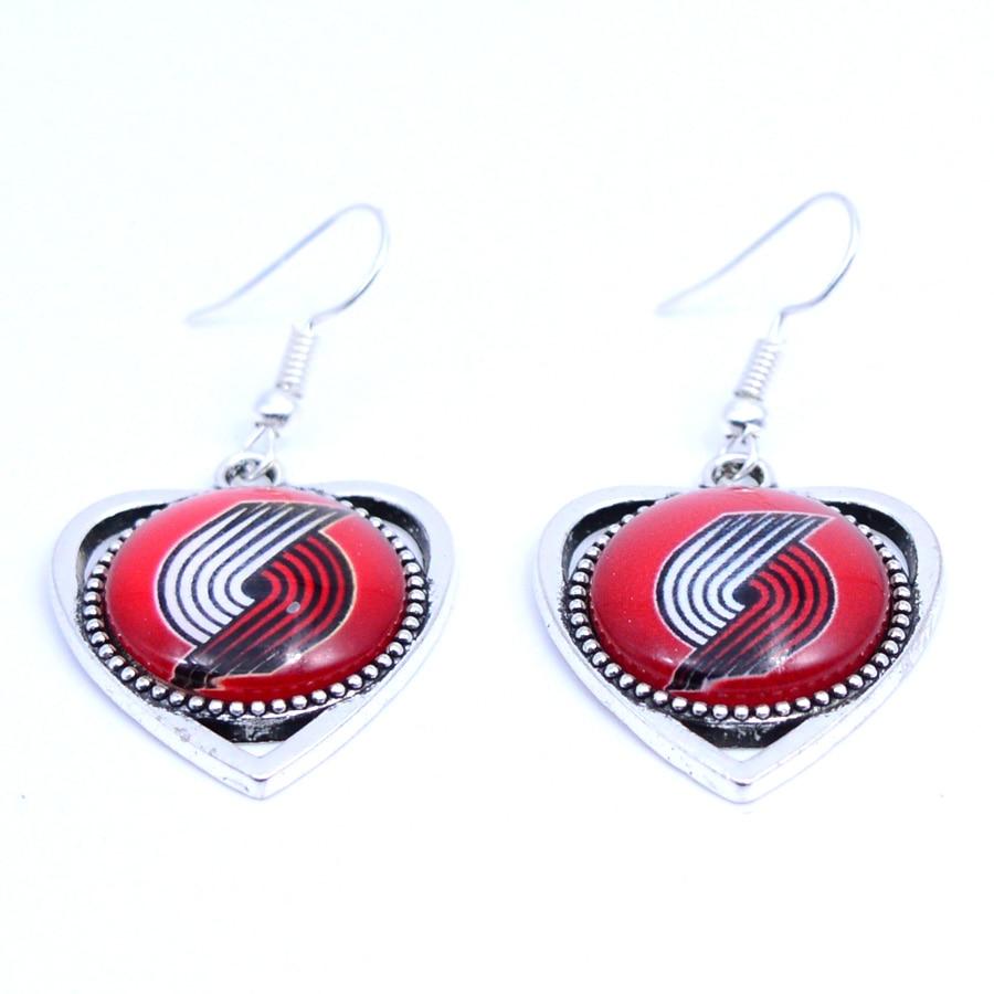 Earrings Portland Trail Blazers Charms Dangle Earrings Sport Earrings Basketball Jewelry for Women Birthday Party Gift 5 pairs
