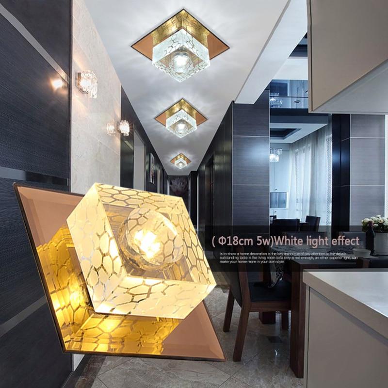 LAIMAIK Crystal Ceiling Light 3W 5W Aisle Corridor Light AC90-260V Porch Lamp LED Crystal Lamp Hall Lighting Pumpkin LED Ceiling цена
