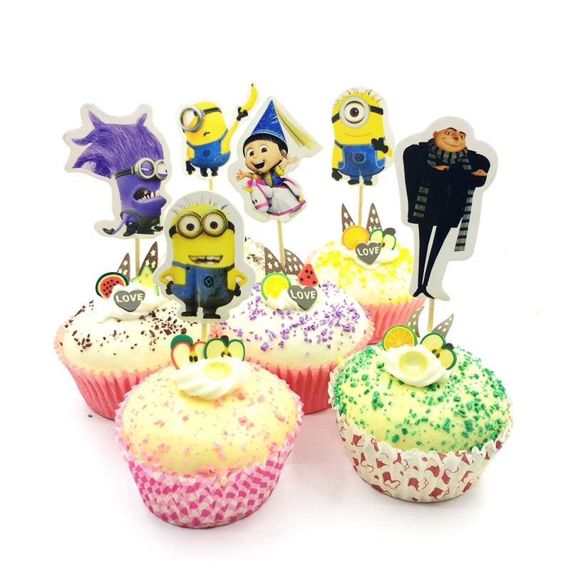 ~ Birthday Party Supplies Minions DESPICABLE ME 2 LARGE SQUARE PAPER PLATES 8
