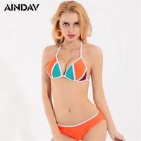 Nieuwe Aanbieding Push Up Bikini 2018 Vechten Heldere Oranje Kleur Badpak Dames Sexy Hot Spring Strand Thong Badmode Hoge Kwaliteit