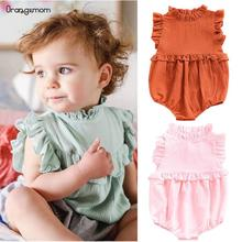 Orangemom 2019 girl baby clothing Newborn Baby Girls Sleeveless Ruffles Jumpsuit Clothes Outfits Summer bodysuit 0-3 infant