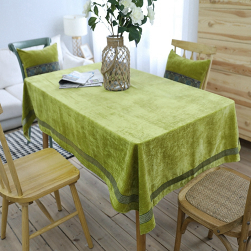 Gray Luxury Embroidery Table Cloth Nordic Style High Quality Rectangle  Dining Home Decor Table Cover Wedding