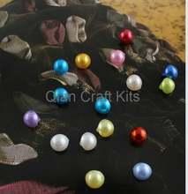 1000 шт жемчужные смешанные цвета 9 мм акриловые новые кнопки