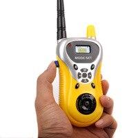 מכשיר הקשר 2pcs / הרבה מכירה חמה כף יד אינטרקום האלקטרונית Interphone ילדים מיני מכשיר הקשר ילדים Portable צעצוע הרדיו שני דרך (2)