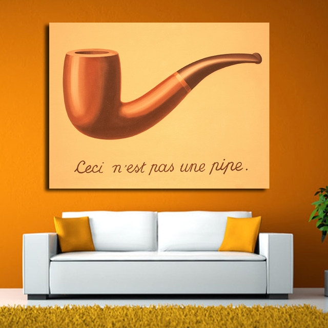 Online Shop This is not a pipe by Famous Oil Painting Artist Rene ...
