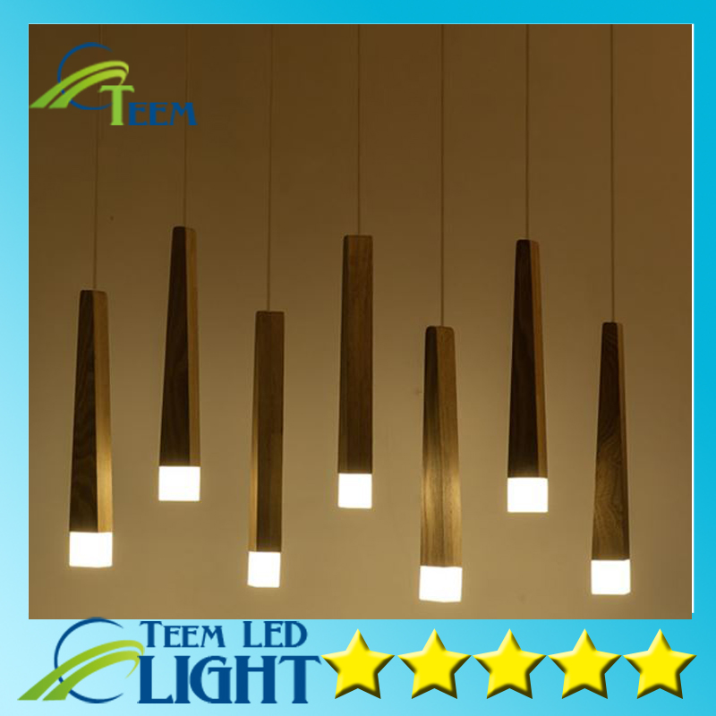 Solid wood art pendant lights LED chip office restaurant decorative Cord Pendant lamp contracted wooden light solid wooden restaurant lamp pendant lights wood nordic new rectangular bar led solid wood office pendant lamps mz141