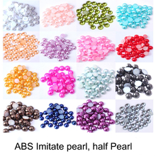 2-14mm Half Round Acrylic Imitation Flatback Pearl Beads pearls for crafts DIY Decoration Nail Art Jewelry Findings Accessories цена