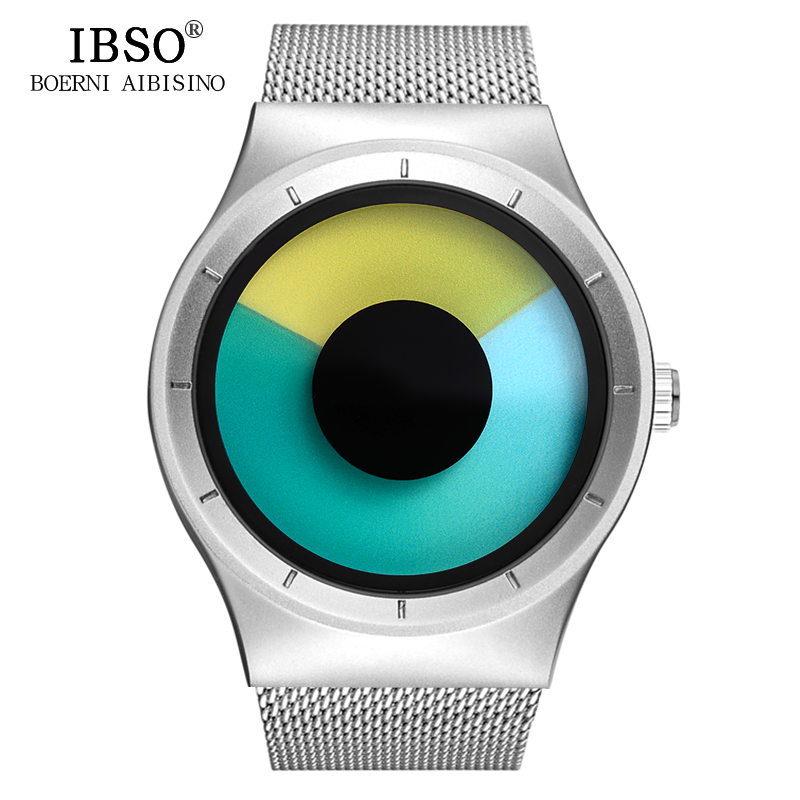 IBSO Creative Men Watches 2018 Top Brand Luxury Stainless Steel Wristwatch Mens Quartz Watch Male Clock Relogio Masculino nakzen diamond men watch luxury brand sapphire watches mens stainless steel black gold wristwatch male clock relogio masculino