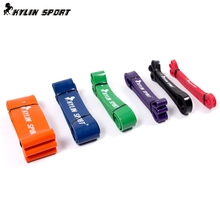 Free Shipping Nature Pure Latex Resistance bands in 6 size fitness power training strength bands