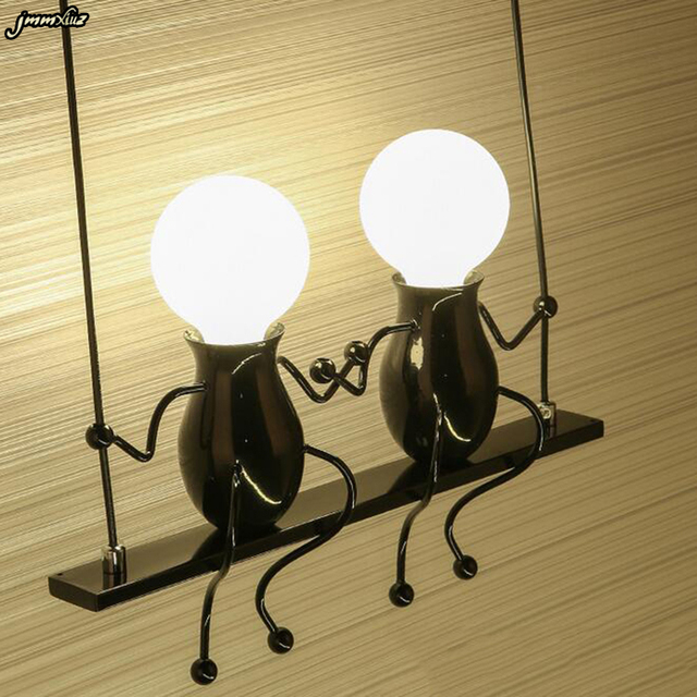 Red Iron Wall Light Sconce For Kid S Room Creative Modern Living Bedroom Hallway Stairs Balcony Lamps Korean Led Lamp