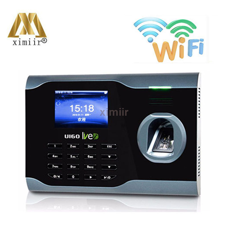 WIFI TCP/IP Biometric Fingerprint Time Clock Recorder Attendance Employee Electronic Punch Reader Machine U160 Time Recording
