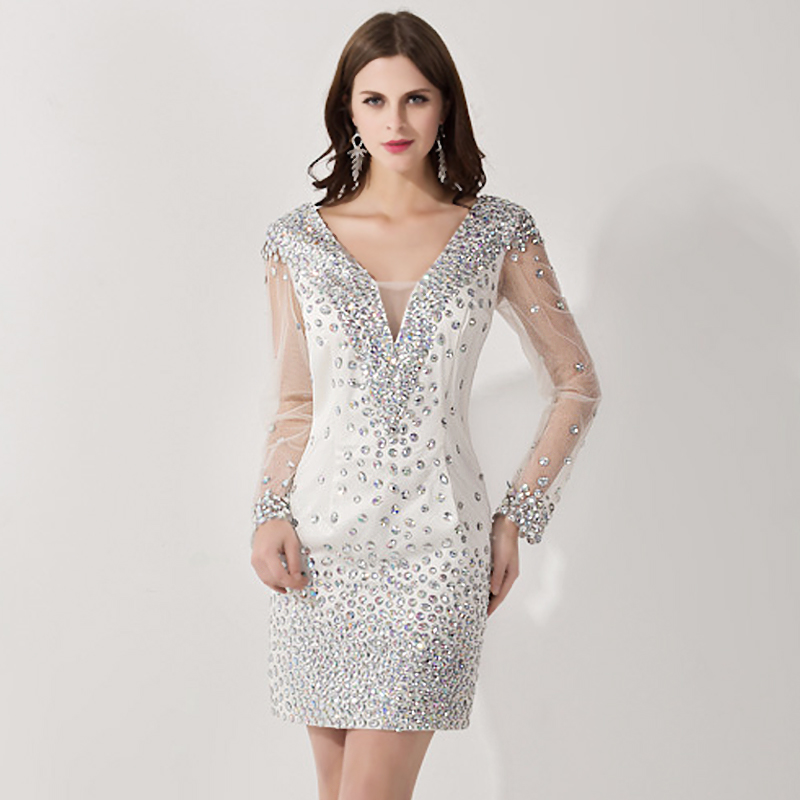 Online Get Cheap Silver Cocktail Dress -Aliexpress.com | Alibaba Group
