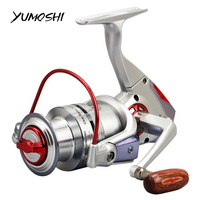 Tackle for fishing Carp Fishing Reel Spinning Wheel Automatic alarm Bearings YUMOSHI Line coil Hot 3000~6000 5.2:1