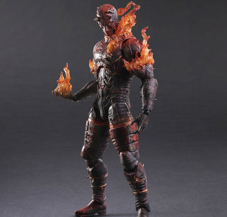Play Arts Kai Solidus Snake Metal Gear Solid Phantom Pain Man On Fire PA 27cm PVC Action Figure Doll Toys Kids Gift Brinquedos new square enix action figure toys metal gear solid snake v the phantom pain kai man on fire toys gift