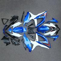 for Suzuki GSXR600 2008 2010 K8 Body Kits GSX R600 08 10 White Blue Fairings GSXR 600 09 10 Fairing Kits Unpainted