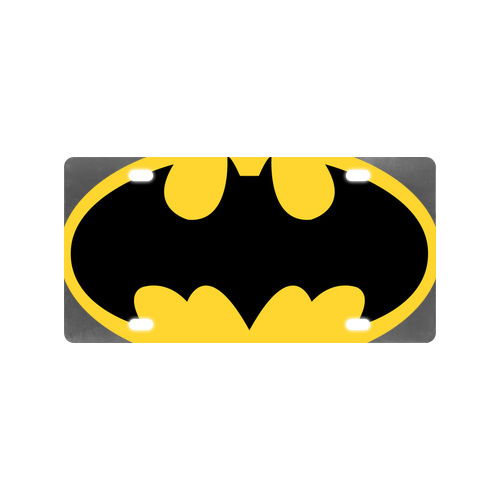 Fashion Custom Heros Logos Super Hero Batman Logo ArtMetal Car Plate (4 Holes)