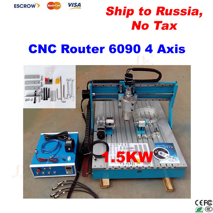 Mini cnc router 6090,high precision cnc Milling Machine with linear guide rail, 1.5KW spindle cnc machine, no tax to Russia multi function programmable logic controller plc module iindustrial control panels stepper motor controller sm537 sd