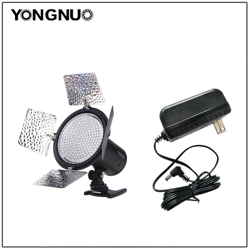 Yongnuo YN-216 YN216 LED Studio Video Light Photography and 4 color charts for Canon Nikon Sony Camcorder DSLR