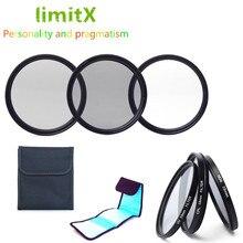 LimitX Accessoires Bundel UV CPL ND4 Filter & 3 Pack Filter Case voor Panasonic Lumix FZ80 FZ82 FZ83 FZ85 Digitale camera