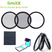 limitX Accessories Bundle UV CPL ND4 Filter & 3 Pack Filter Case for Panasonic Lumix FZ80 FZ82 FZ83 FZ85 Digital Camera