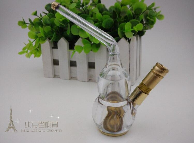 Free shipping 1pcs mini Hookah Smoking Water Pipe metal health cigarette Filter brass cigarette water filter gift Narguile
