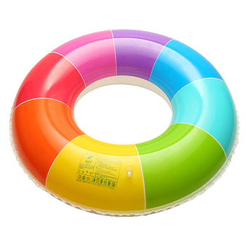 New Rainbow Inflatable Swimming Ring Swim Float Summer Beach Water Fun Pool Toys For Adults Children Kids 4