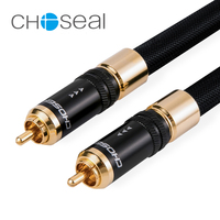 Choseal QS993 Digital Coaxial Audio Cable RCA To RCA Single Crystal Copper Hifi Audio Wire RCA cable