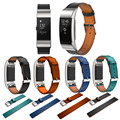 Simplestone Replacement Luxury Genuine Leather Band Strap Bracelet For Fitbit Charge 2 0205 drop shipping